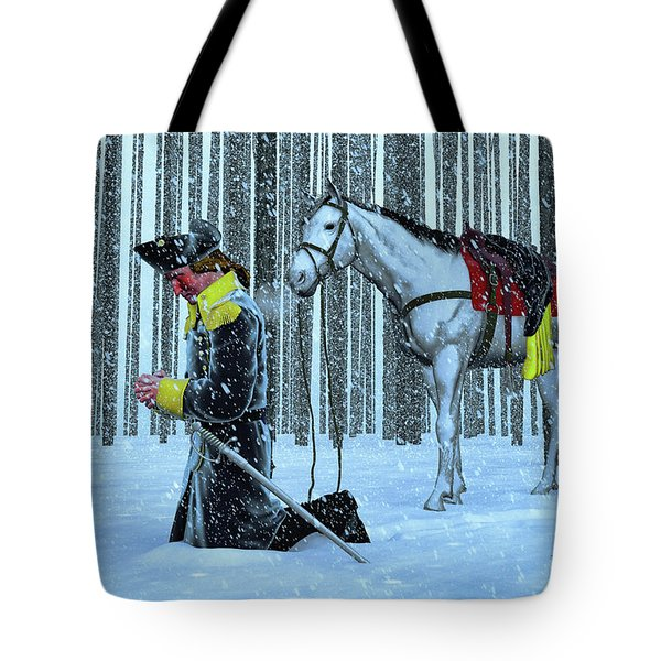 A Prayer In The Snow Tote Bag by Dave Luebbert