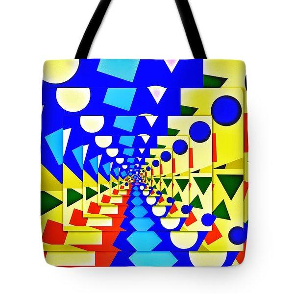 Tote Bag featuring the digital art A Priori by Aurelio Zucco