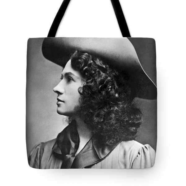A Profile Portrait Of Sharpshooter Annie Oakley Tote Bag