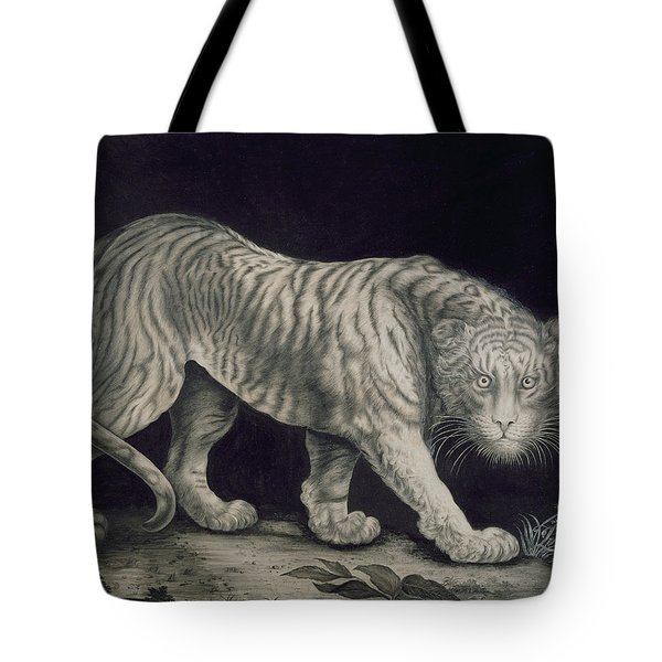 A Prowling Tiger Tote Bag by Elizabeth Pringle