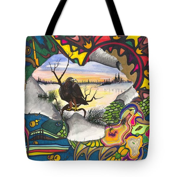 Tote Bag featuring the painting A Punch Through by Darren Cannell
