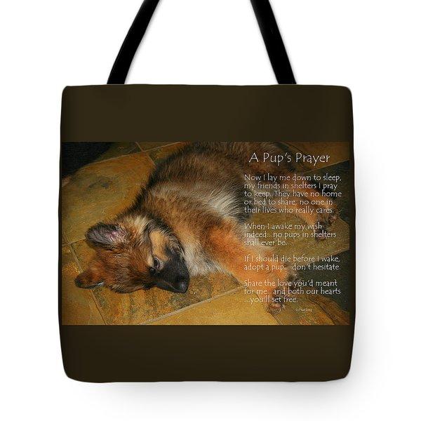 A Pup's Prayer Tote Bag
