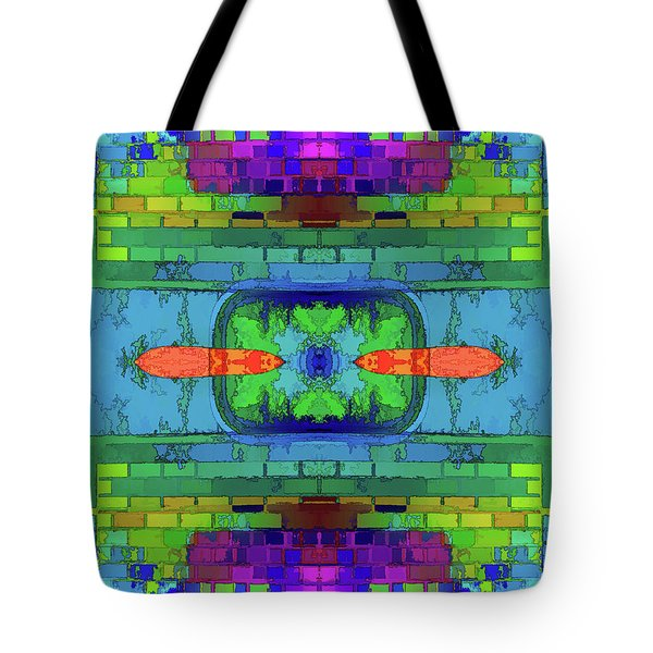 Tote Bag featuring the digital art A Question Of Balance by Wendy J St Christopher