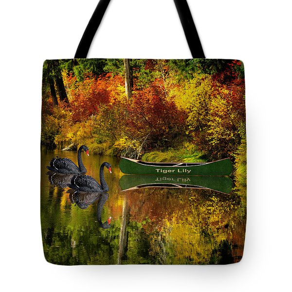 Tote Bag featuring the photograph A Quiet Autumn Evening by Diane Schuster