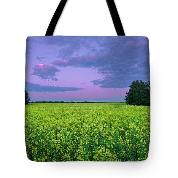 A Quiet Evening In Alberta Tote Bag