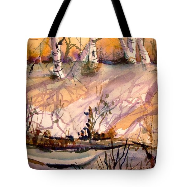 A Quiet Light Tote Bag by Mindy Newman