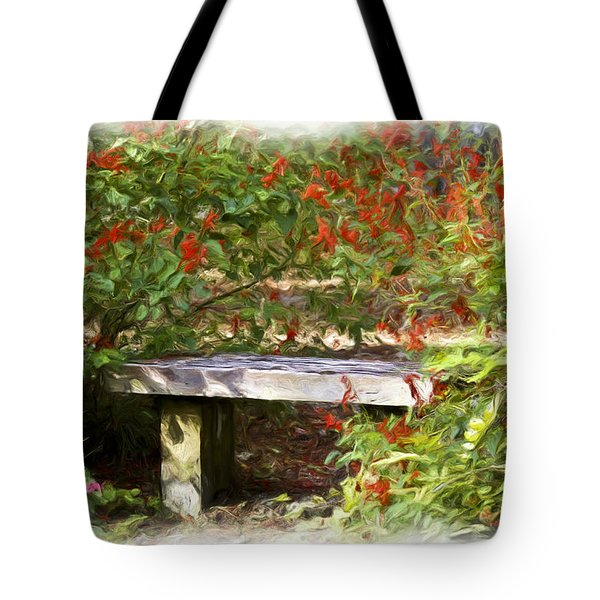 A Quiet Place Tote Bag by Carolyn Marshall