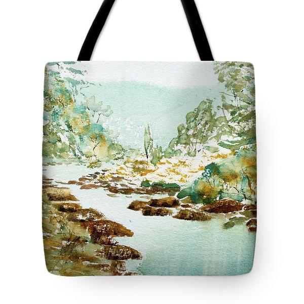 A Quiet Stream In Tasmania Tote Bag