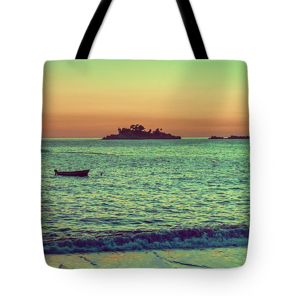 A Quiet Summer Evening On The Montenegrin Coast Of The Adriatic Sea Tote Bag