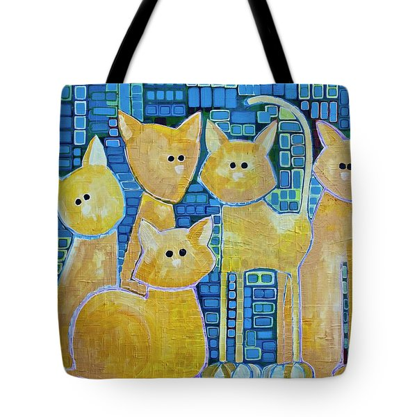 A Quorum Of Cats Tote Bag