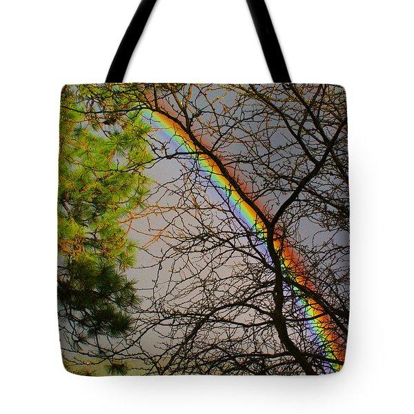 A Rainbow Tree Tote Bag by Ben Upham III