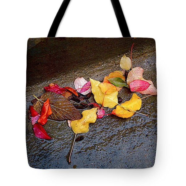 A Rainy Autumn Day In The City Tote Bag by Rona Black