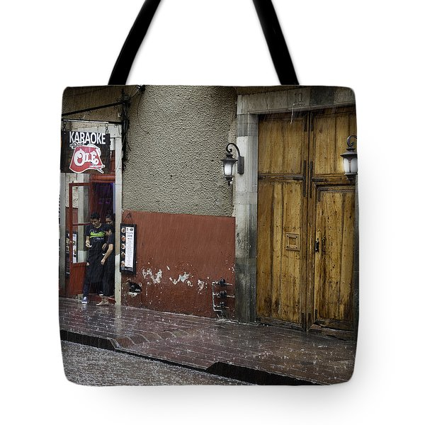 A Rainy Day In Mexico Tote Bag