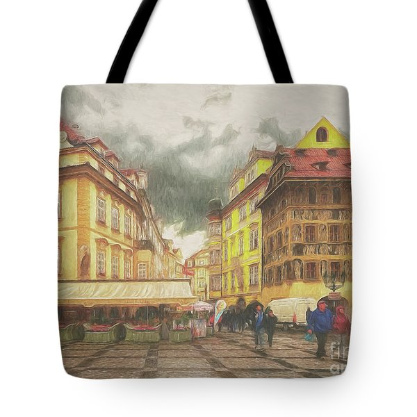 A Rainy Day In Prague Tote Bag