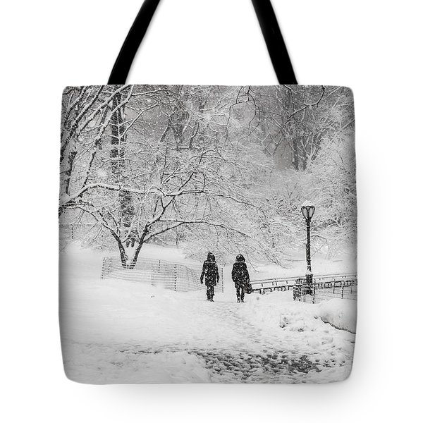 A Ramble In The Snow Tote Bag