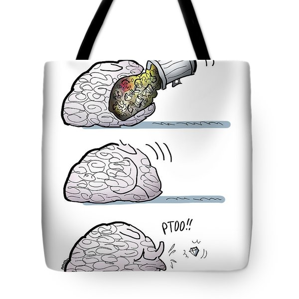 Tote Bag featuring the digital art A Real Gem by Mark Armstrong