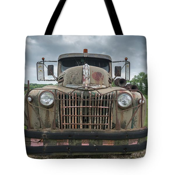 Tote Bag featuring the photograph A Really Rusty Ford by Guy Whiteley