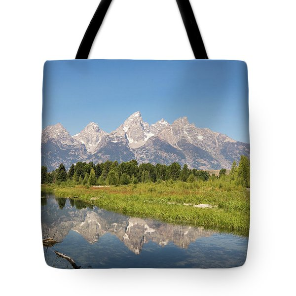 A Reflection Of The Tetons Tote Bag
