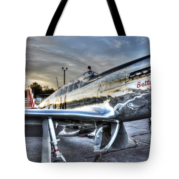 A Reflective Mustang Tote Bag by David Collins