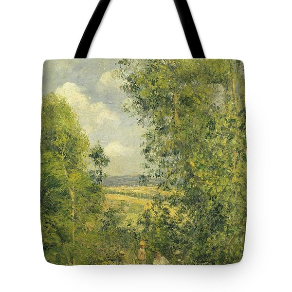 A Rest In The Meadow Tote Bag by Camille Pissarro