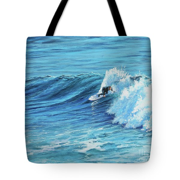 A Ride On Steamer Lane Tote Bag