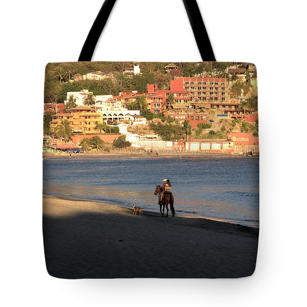 A Ride On The Beach Tote Bag by Jim Walls PhotoArtist