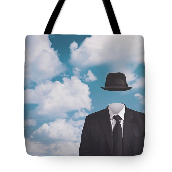 A Riff On Magrittes The Pilgrim Tote Bag