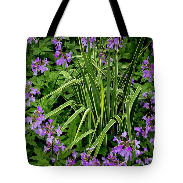 A Ring Of Purple Flowers Tote Bag