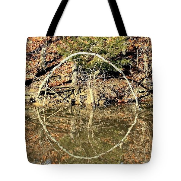A Ring On The Pond In Fall Tote Bag