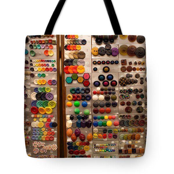 A Riot Of Buttons Tote Bag