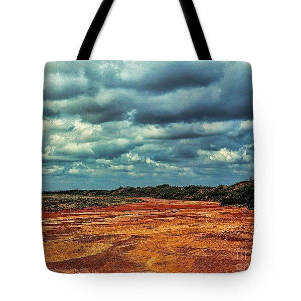 Tote Bag featuring the photograph A River Of Red Sand by Diana Mary Sharpton