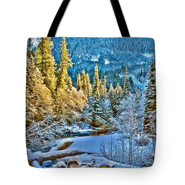 A River Runs Down It Tote Bag