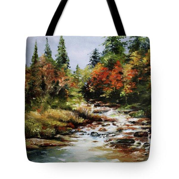 A River Runs Tote Bag