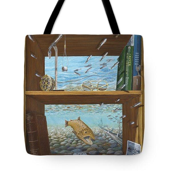 A River Runs Through It Tote Bag by Susan Schneider