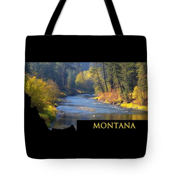 A River Runs Thru Autumn Tote Bag