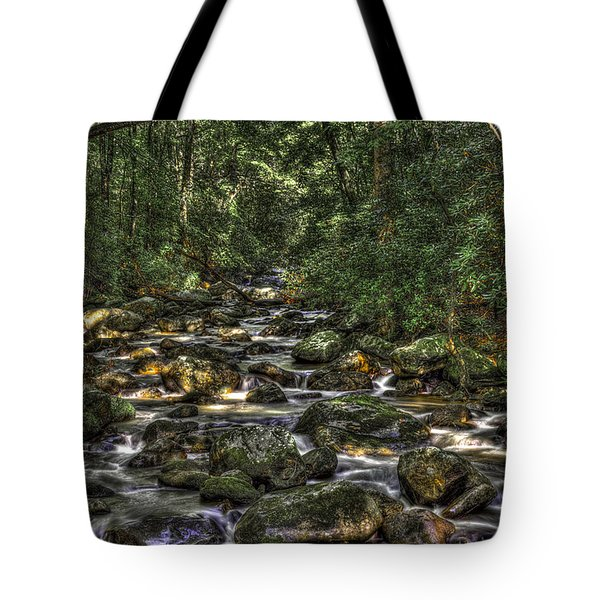 A River Through The Woods Tote Bag