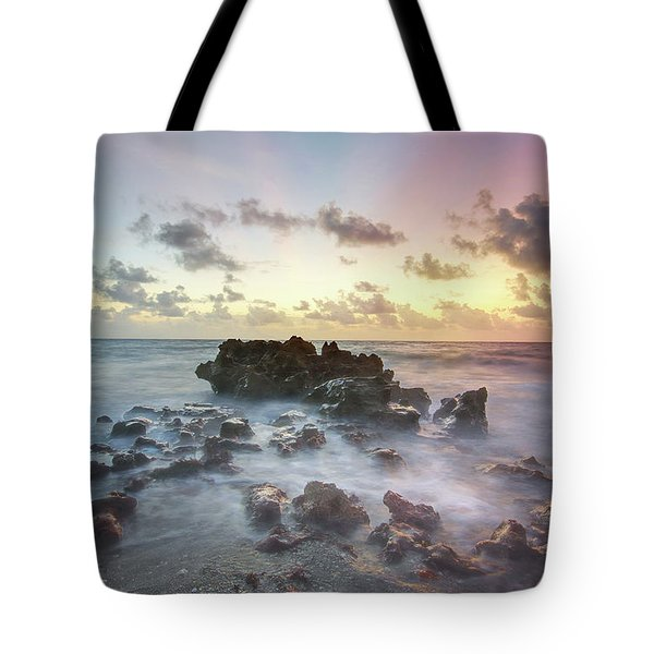 A Rocky Sunrise. Tote Bag