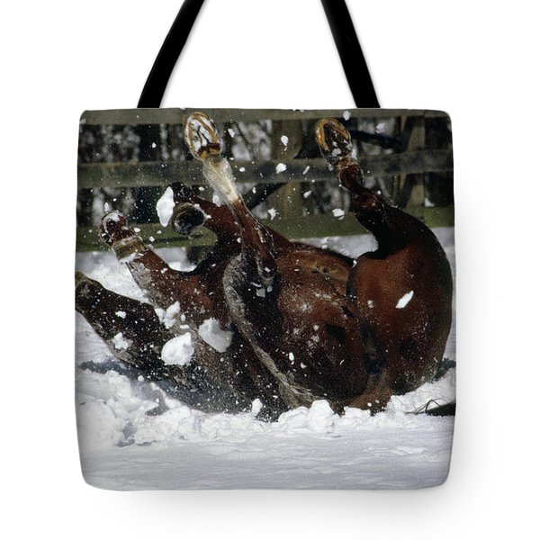 A Roll In The Snow Tote Bag