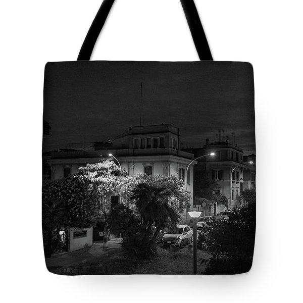A Roman Street At Night Tote Bag