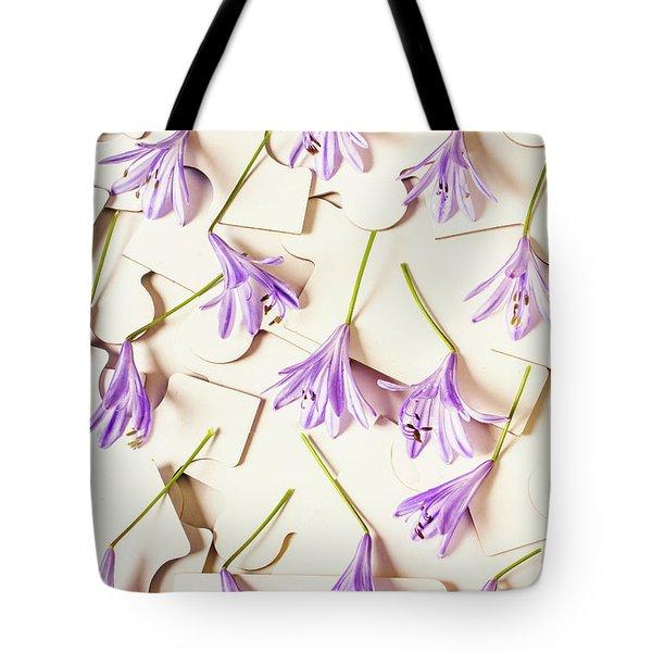 A Romantic Agapanthus Puzzle Tote Bag