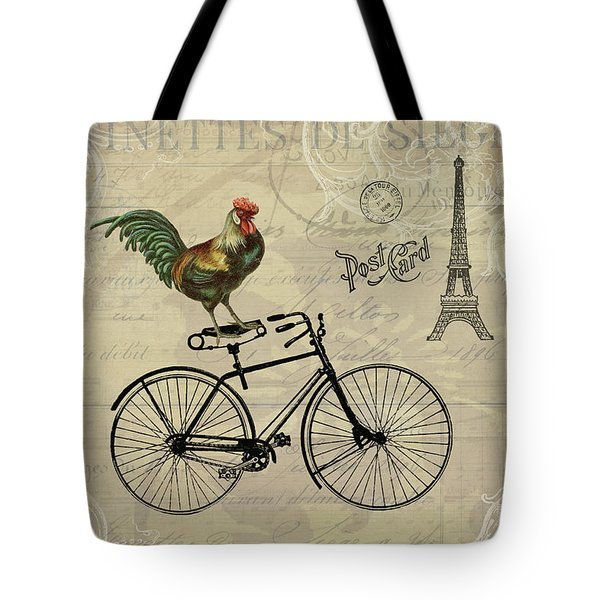 A Rooster In Paris Tote Bag