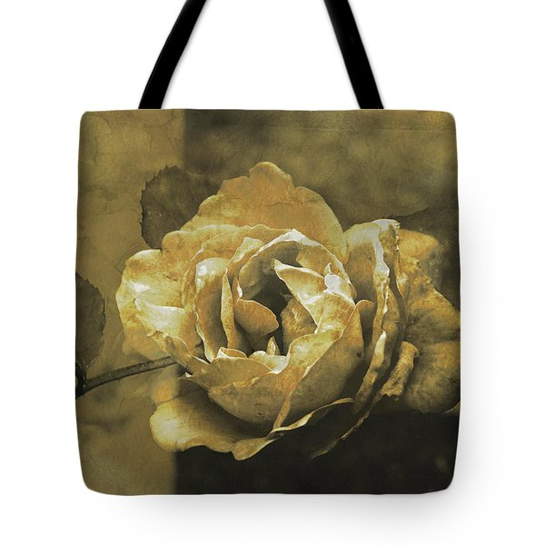Tote Bag featuring the digital art Vintage Effect Rose by Fine Art By Andrew David