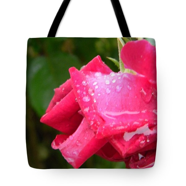 A Rose Heavy With Rain Tote Bag