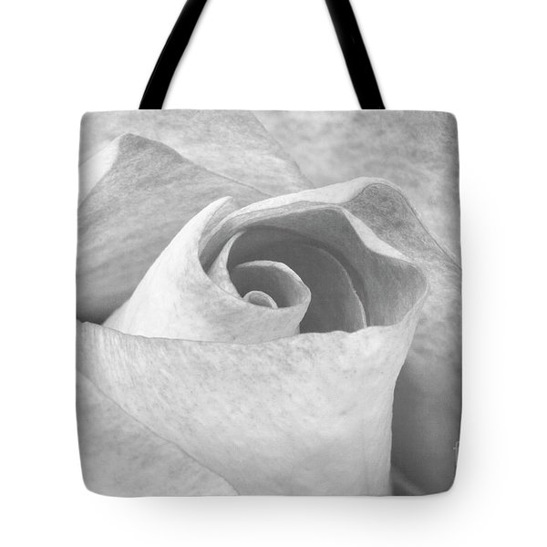 A Rose Is A Rose Black And White Floral Photo 753  Tote Bag