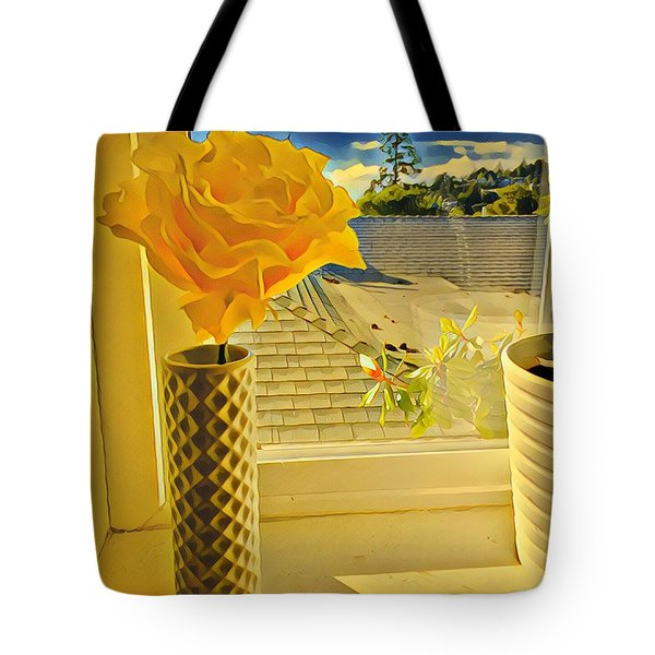 A Rose Is A Rose Electric Tote Bag