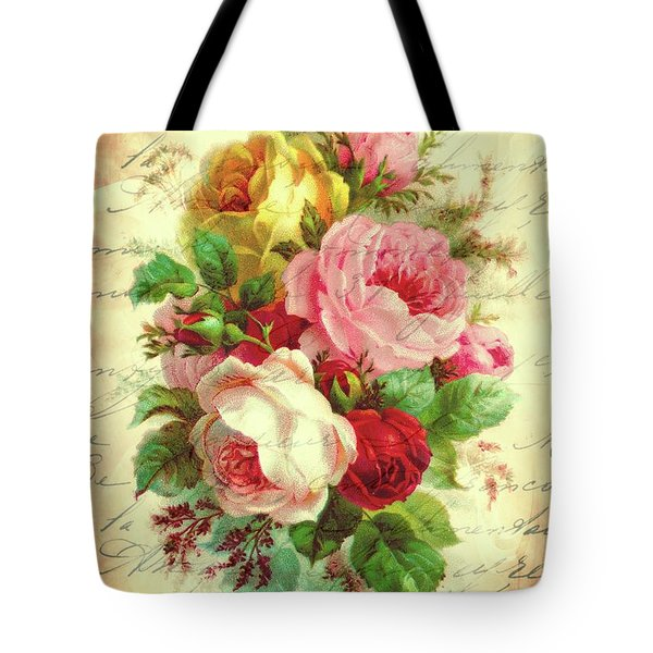 A Rose Speaks Of Love Tote Bag by Tina LeCour