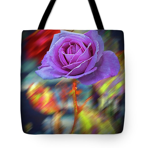 Tote Bag featuring the photograph A Rose by Vladimir Kholostykh
