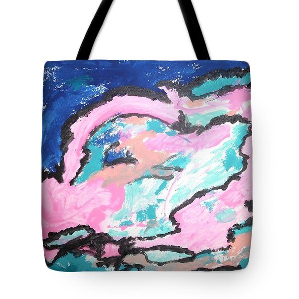 Tote Bag featuring the painting A Rosy Experience by Esther Newman-Cohen