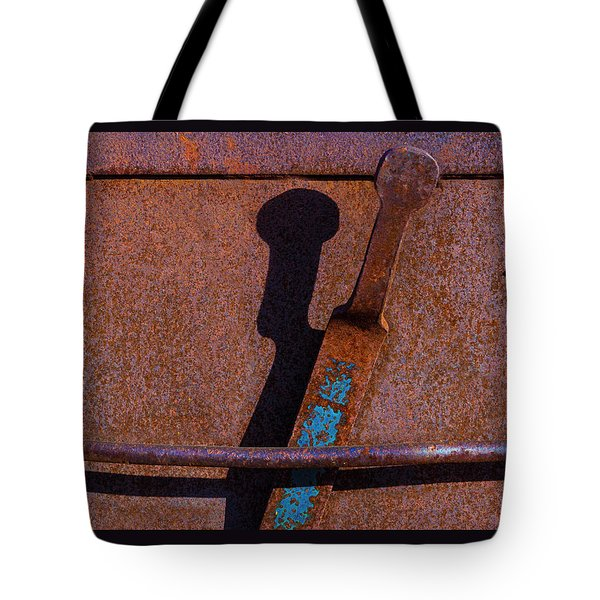Tote Bag featuring the photograph A Rusted Development II by Paul Wear