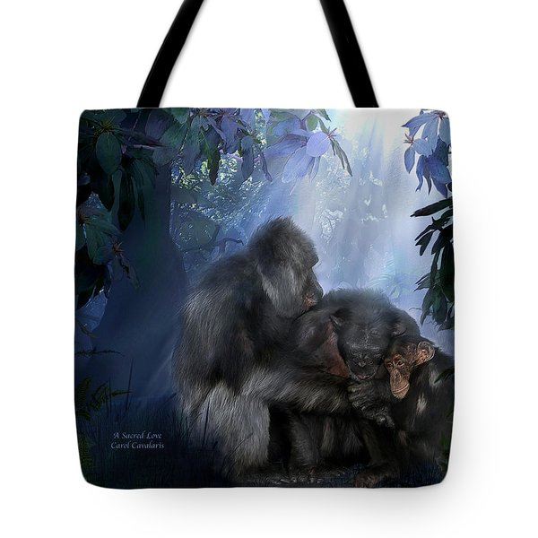 A Sacred Love Tote Bag by Carol Cavalaris